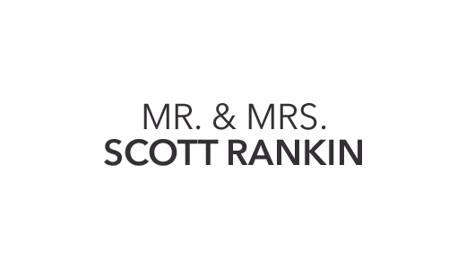 Mr. & Mrs. Scott Rankin